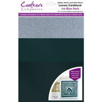Crafter's Companion - Luxury Mixed Cardstock Pack - 30 Sheets - Ice Blue