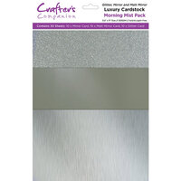 Crafter's Companion - Luxury Mixed Cardstock Pack - 30 Sheets - Morning Mist
