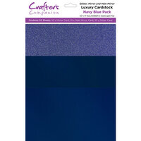 Crafter's Companion - Luxury Mixed Cardstock Pack - 30 Sheets - Navy Blue