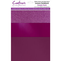 Crafter's Companion - Luxury Mixed Cardstock Pack - 30 Sheets - Purple