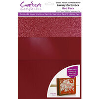 Crafter's Companion - Luxury Mixed Cardstock Pack - 30 Sheets - Red