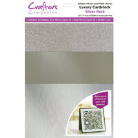 Crafter's Companion - Luxury Mixed Cardstock Pack - 30 Sheets - Silver
