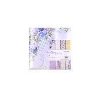 Crafter's Companion - 12 x 12 Pearl Cardstock Pack - Blues and Lilacs