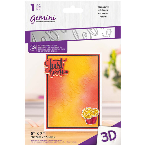 Crafter's Companion - 3D Embossing Folder - Celebrate