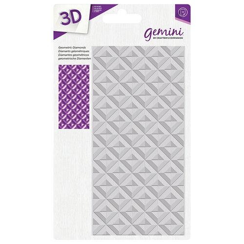 Crafter's Companion - 3D Embossing Folder - Geometric Diamonds