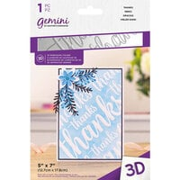 Crafter's Companion - 3D Embossing Folder - Thanks
