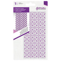 Crafter's Companion - Mini Embossing Folder - Geometric Florals