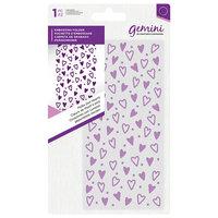Crafter's Companion - Mini Embossing Folder - Polka Dot Hearts