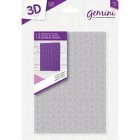 Crafter's Companion - 3D Embossing Folder - Basket Weave