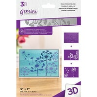 Crafter's Companion - 3D Embossing Folder and Stencil Set - Delicate Dandelions