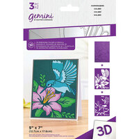 Crafter's Companion - 3D Embossing Folder and Stencil Set - Humming Bird