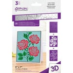 Crafter's Companion - 3D Embossing Folder and Stencil Set -Lovely Roses