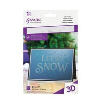 Crafter's Companion - Christmas - 3D Embossing Folder - Let It Snow