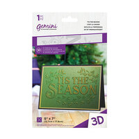 Crafter's Companion - Christmas - 3D Embossing Folder - 'Tis The Season
