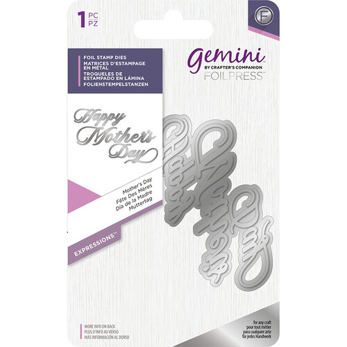 Crafter's Companion - Gemini - Foil Stamp Die - Word - Mother's Day