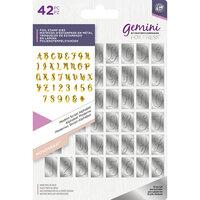 Crafter's Companion - Gemini - Foil Stamp Die - Monogram - Alphabet - Modern Script