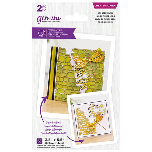 Crafter's Companion - Gemini - Die - Create A Card - Dry Stone Wall