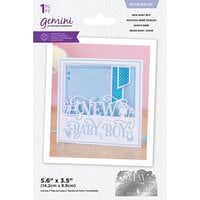 Crafter's Companion - Gemini - Dies - Edgeables - New Baby Boy
