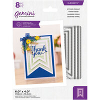Crafter's Companion - Gemini - Elements - Dies - Stitched Pennant
