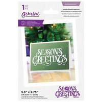 Crafter's Companion - Gemini - Expressions - Dies - Grande Season's Greetings