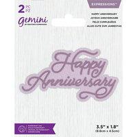 Crafter's Companion - Gemini - Dies - Core Sentiments - Happy Anniversary