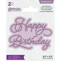Crafter's Companion - Gemini - Die - Core Sentiments - Happy Birthday