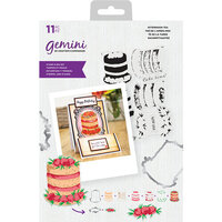 Crafter's Companion - Gemini - Die and Clear Acrylic Stamp Set - Afternoon Tea