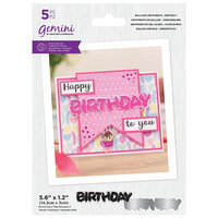 Crafter's Companion - Gemini - Clear Acrylic Stamp and Die Set - Birthday