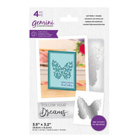 Crafter's Companion - Gemini - Stamp and Die - Butterfly Wishes