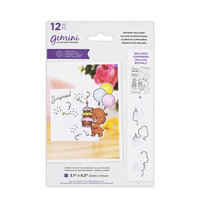 Crafter's Companion - Gemini - Die and Clear Acrylic Stamp Set - Birthday Balloons