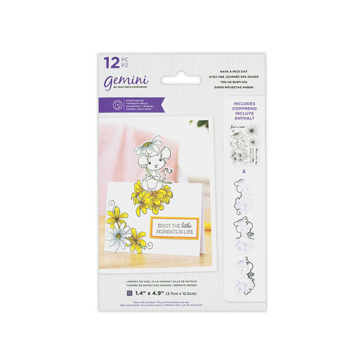 Crafter's Companion - Gemini - Die and Clear Acrylic Stamp Set - Have A Mice Day