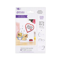 Crafter's Companion - Gemini - Die and Clear Acrylic Stamp Set - Paw Prints