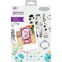 Crafter's Companion - Gemini - Die and Clear Acrylic Stamp Set - Country Wildflowers