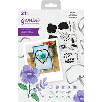 Crafter's Companion - Gemini - Die and Clear Acrylic Stamp Set - In Bloom