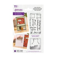 Crafter's Companion - Gemini - Die and Clear Acrylic Stamp Set - Peek-A-Boo - Hippo