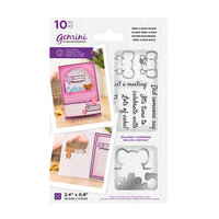 Crafter's Companion - Gemini - Die and Clear Acrylic Stamp Set - Peek-A-Boo - Mouse