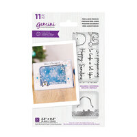 Crafter's Companion - Christmas - Gemini - Die and Clear Acrylic Stamp Set - Peek-A-Boo - Penguin