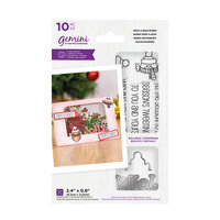 Crafter's Companion - Christmas - Gemini - Die and Clear Acrylic Stamp Set - Peek-A-Boo - Robin