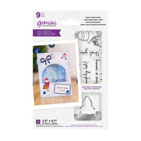 Crafter's Companion - Christmas - Gemini - Die and Clear Acrylic Stamp Set - Peek-A-Boo - Santa