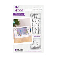 Crafter's Companion - Christmas - Gemini - Die and Clear Acrylic Stamp Set - Peek-A-Boo - Snowman