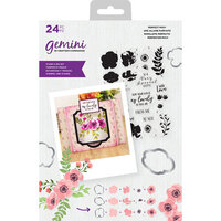Crafter's Companion - Gemini - Die and Clear Acrylic Stamp Set - Perfect Posy