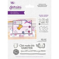 Crafter's Companion - Gemini - Stamp and Die - Smitten As A Kitten
