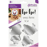Crafter's Companion - Gemini - Die and Clear Acrylic Stamp Set - Santa Claus