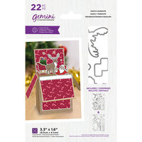 Crafter's Companion - Christmas - Gemini - Die and Clear Acrylic Stamp Set - Santa and Rudolph