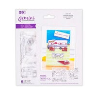 Crafter's Companion - Staycation Collection - Gemini - Die and Clear Acrylic Stamp Set - Road Trip