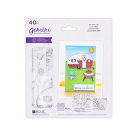 Crafter's Companion - Staycation Collection - Gemini - Die and Clear Acrylic Stamp Set - The Simple Life