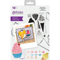 Crafter's Companion - Gemini - Die and Clear Acrylic Stamp Set - Sweet Treats