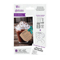 Crafter's Companion - Gemini - Die and Acrylic Stamp Set - Sweet Season Wishes