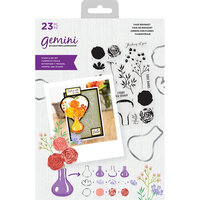 Crafter's Companion - Gemini - Die and Clear Acrylic Stamp Set - Vase Bouquet