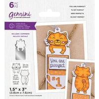Crafter's Companion - Gemini - Stamp and Die - You Are Purrfect